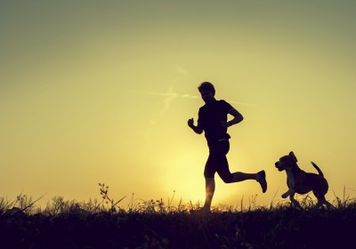 Jogger mit Hund