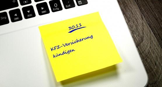 Notiz KFZ Versicherung